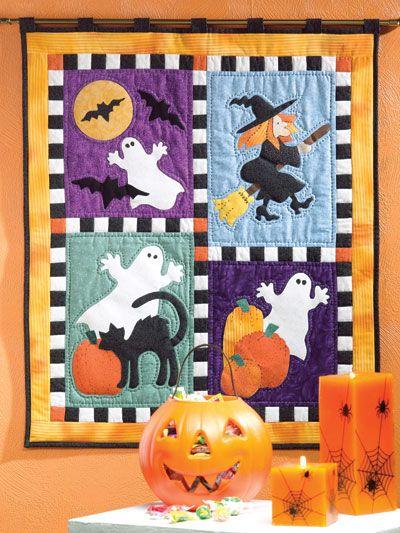 Halloween Applique Quilt Patterns | home quilting spooky halloween ... : quilt applique techniques - Adamdwight.com