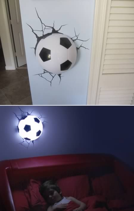 10 Insanely Cool Wall Lamps Cool Lamps Unusual Lamps Oddee Fussball Kinderzimmer Wandleuchte Kinder Fussball Schlafzimmer