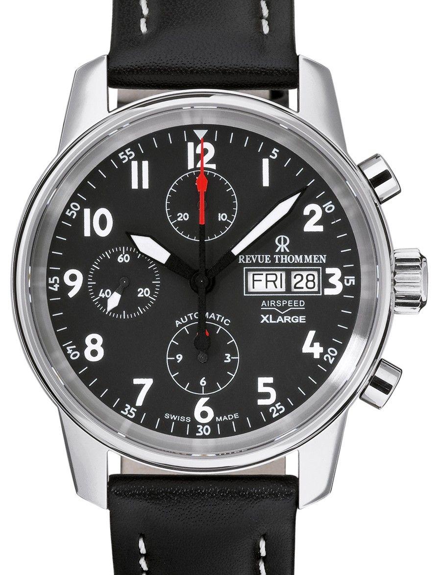 Revue Thommen | Airspeed Chronograph XL | Edelstahl | Uhren-Datenbank watchtime.net