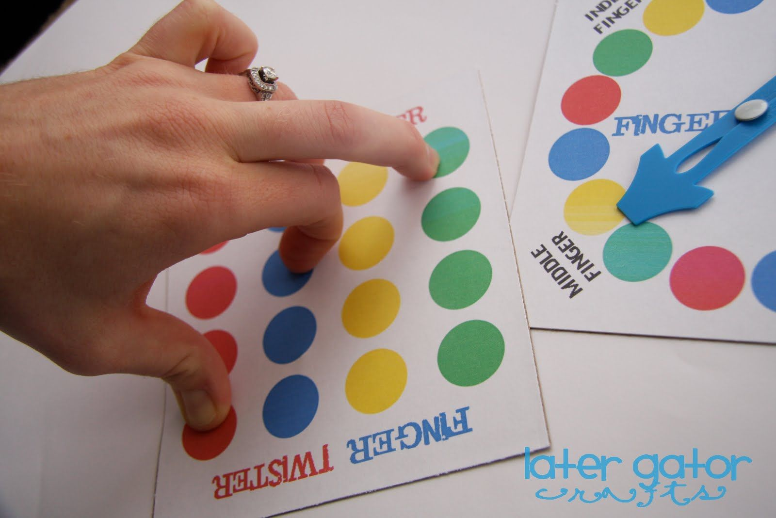 photo relating to Finger Twister Printable named Finger Twister - Do it yourself printables directions For the