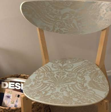 Wallpaper Chair But Use Contact Paper Instead Perhaps Stencil