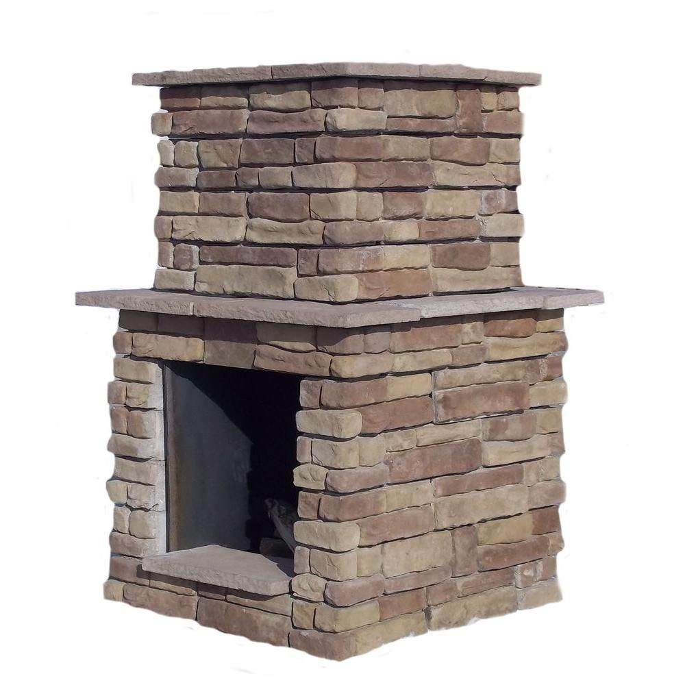 Sunjoy Amherst 35 In Wood Burning Outdoor Fireplace L Of082pst 3 The Home Depot Outdoor Fireplace Tuscan Decorating Tuscan Style