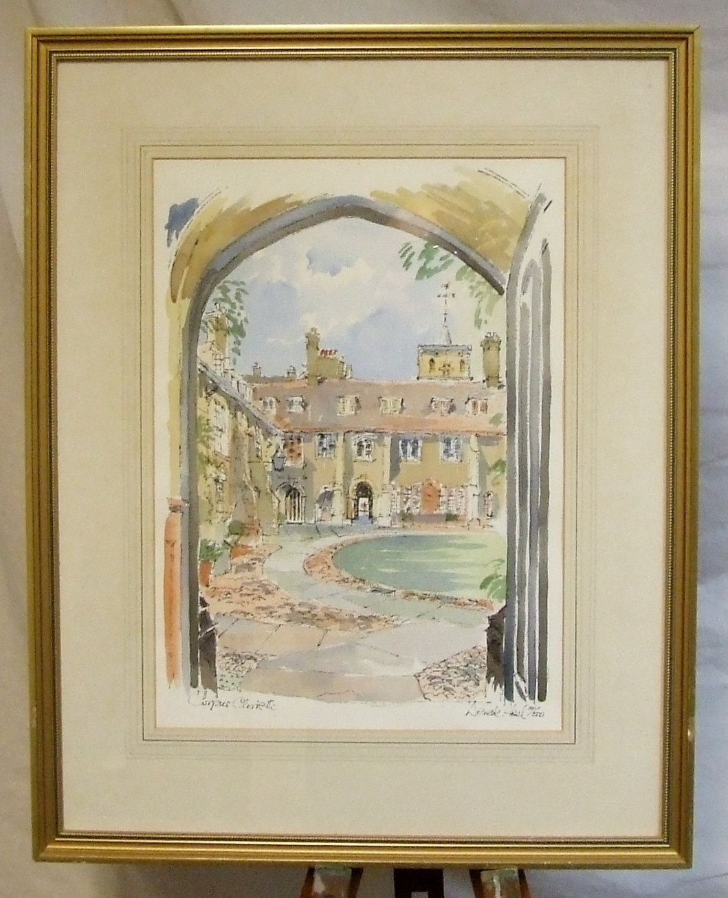 6 Contemporary prints Derek Abel limited edition Corpus Christi College Cambridge University England framed by ElegantPossessions on Etsy