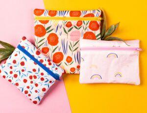 Comment faire des sacs à collation réutilisables – modèle gratuit   Club de tissus   – Couture objet