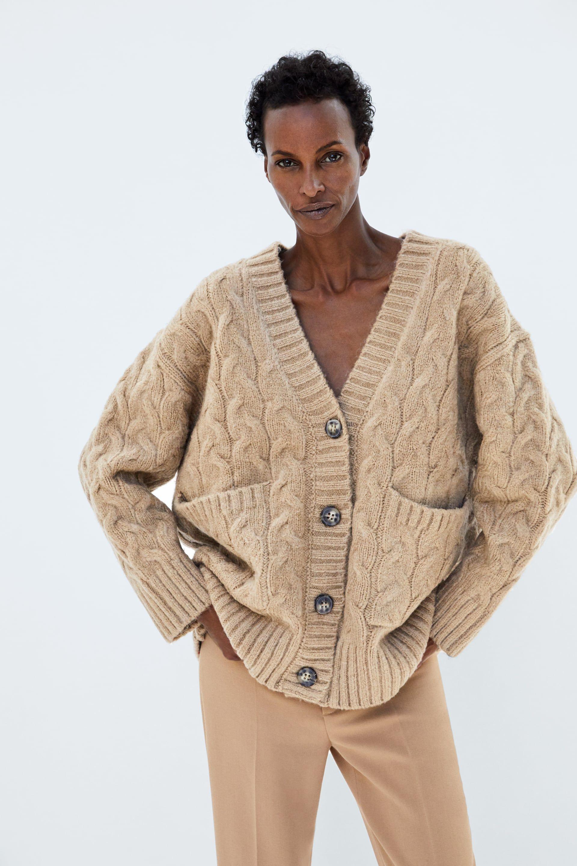 0b474d6b97e105 Oversize-cardigan mit zopfmuster | Shopping List F/W 2018 ...