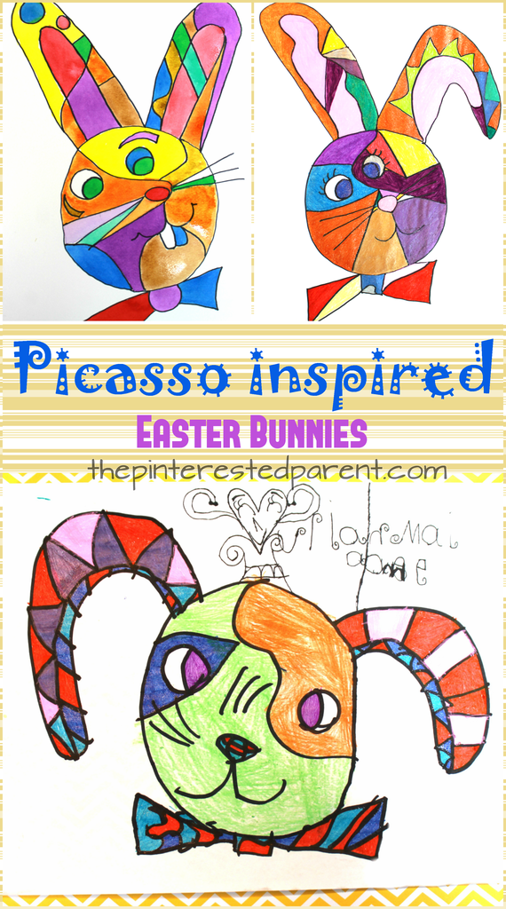 Photo of Picasso Inspired Easter Bunnies – The Pinterested Parent