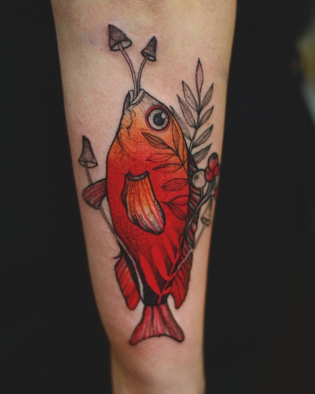 amazing color fish tattoo by @dzo_lama | Fish Tattoo Ideas ...