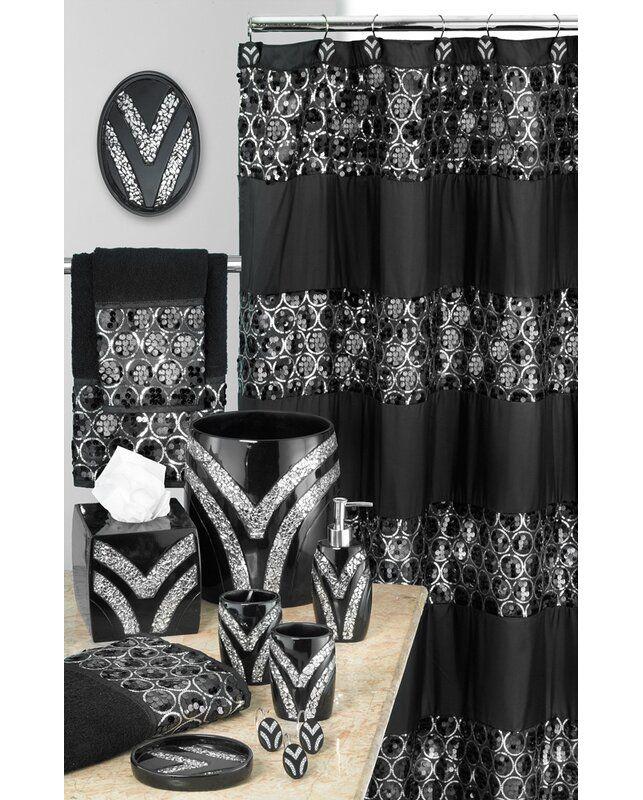 Irie Striped Single Shower Curtain In 2020 Black Shower Curtains Shower Curtain Sizes Shower Curtain