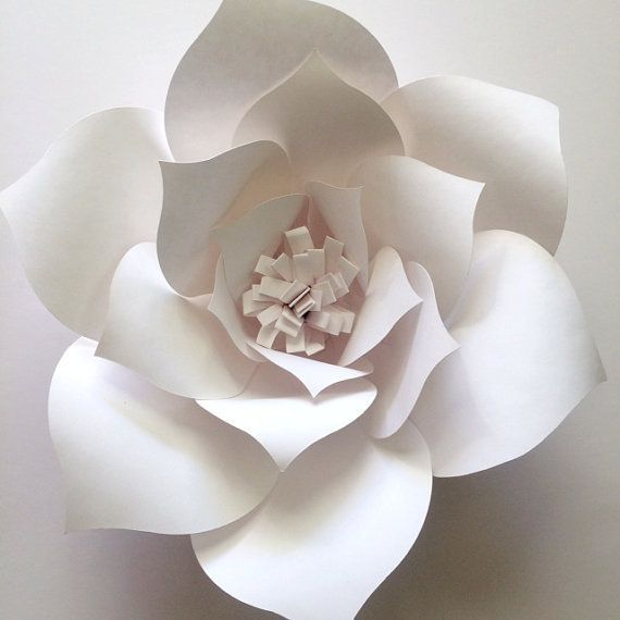 Paper Flower Template Create Your Own Paper Flower Wall Diy