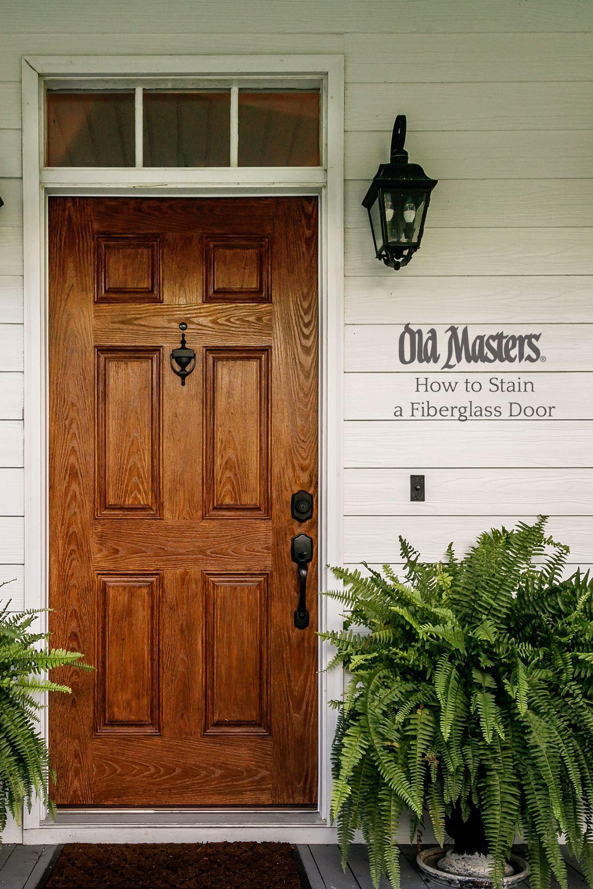 Fiberglass Doors Staining Guide Fiberglass Door Stained Front Door Painted Front Doors