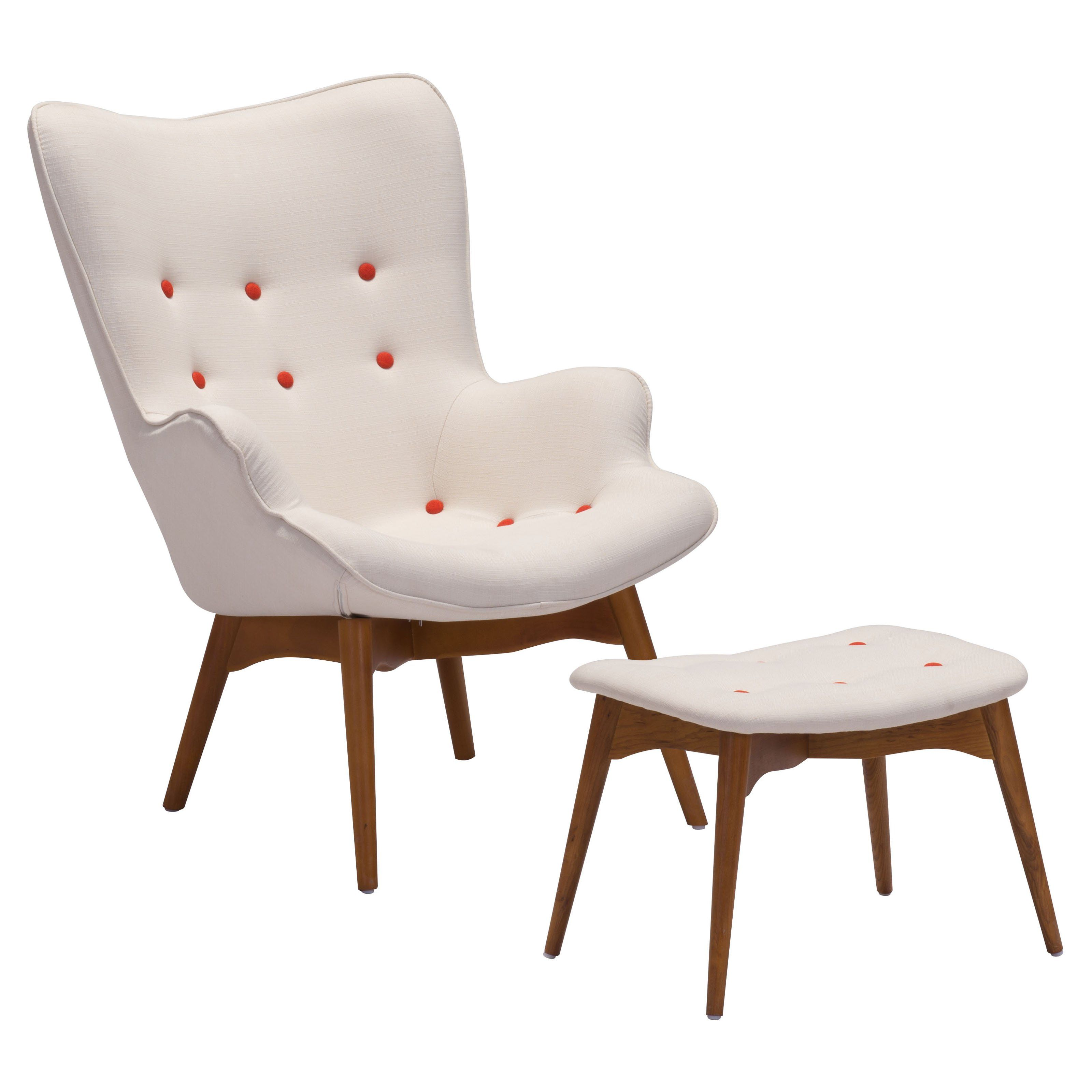 have to have it zuo modern antwerp occasional chair and ottoman  - zuo modern antwerp occasional chair and ottoman  cream
