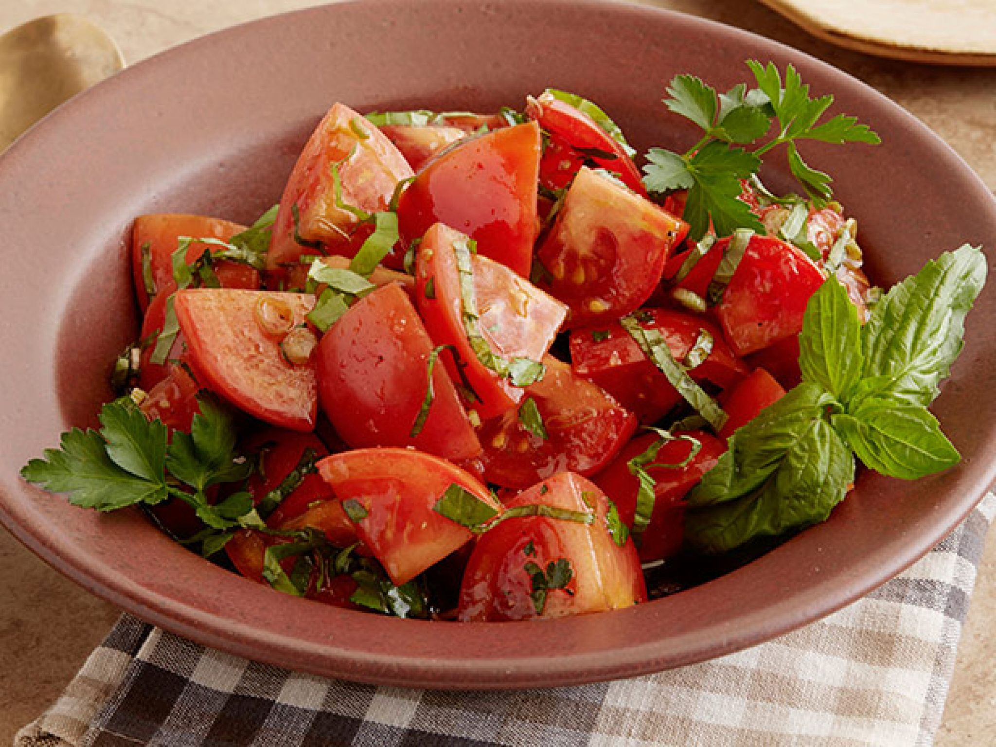 Marinated tomato salad with herbs recipe from ree drummond via food marinated tomato salad with herbs recipe from ree drummond via food network forumfinder Image collections