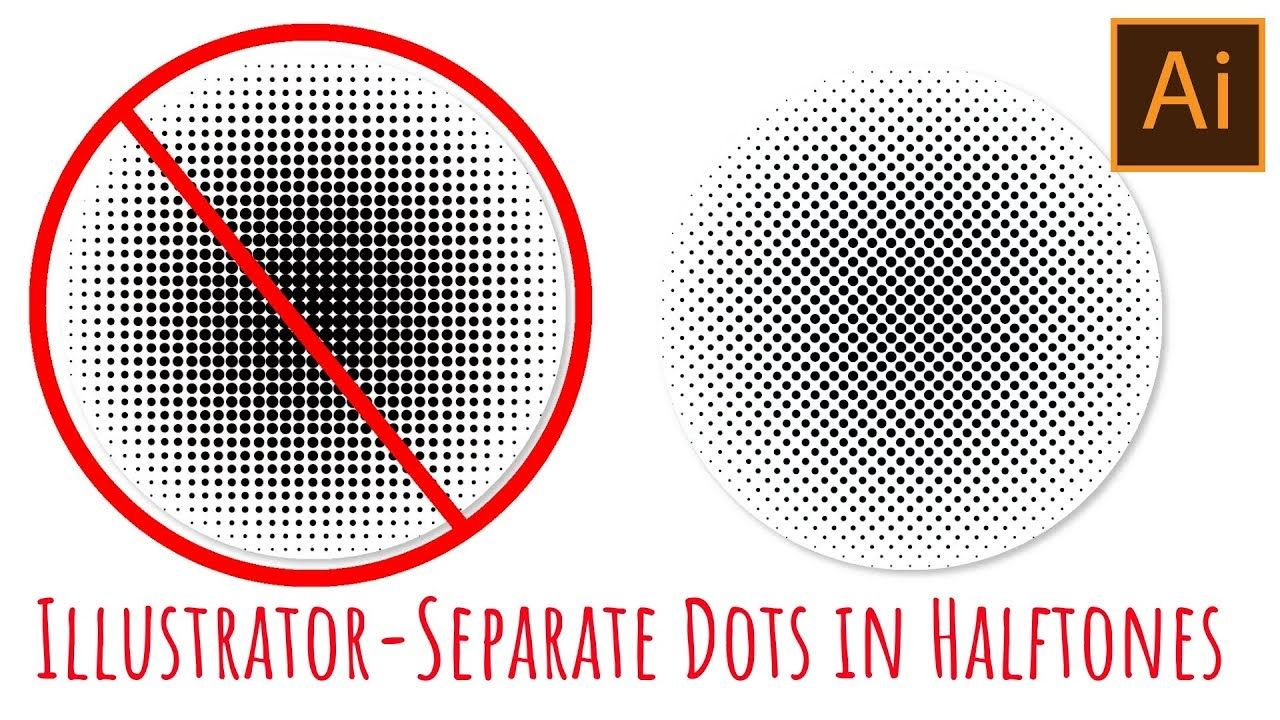 Illustrator Halftones with spaced out circles Disenos