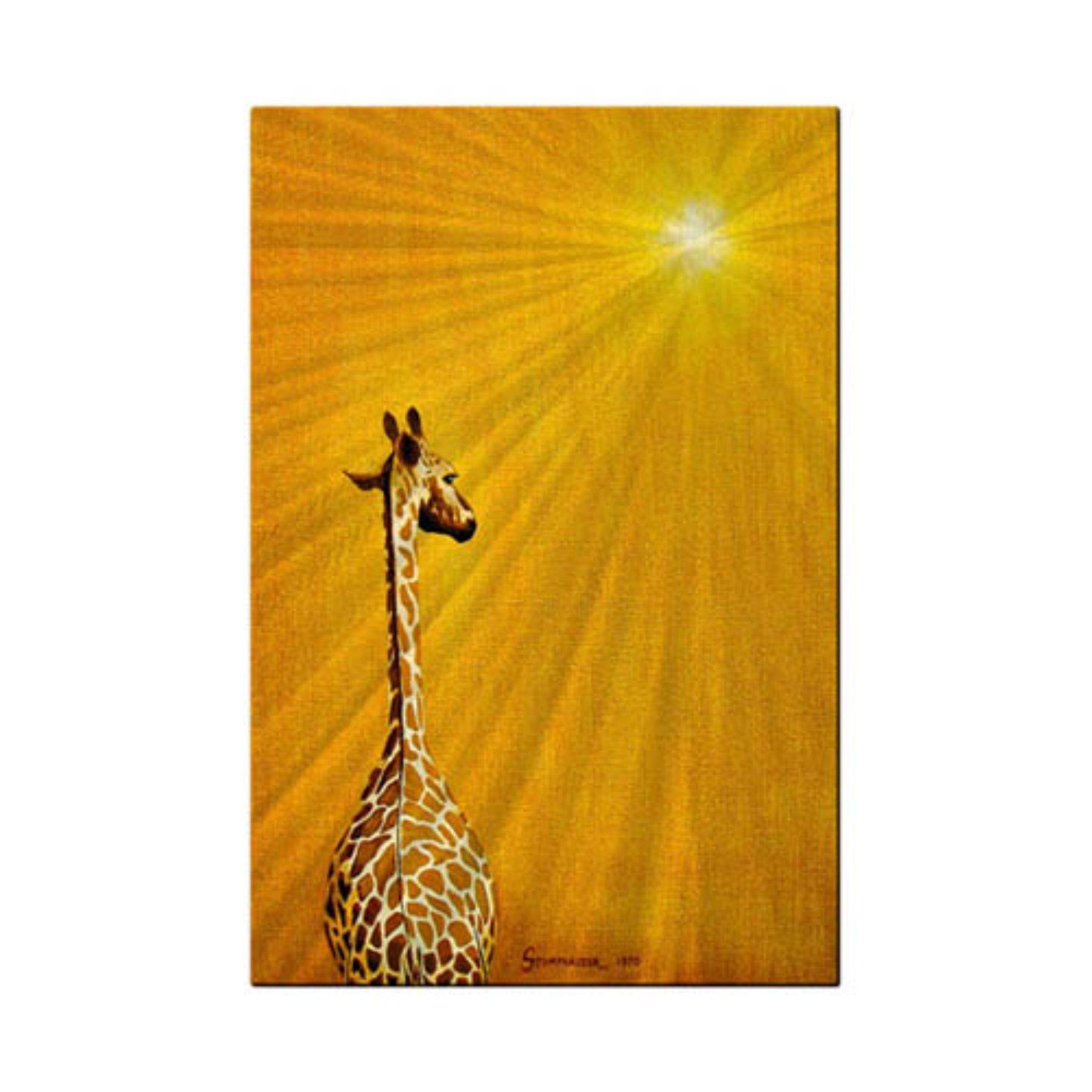 Giraffe Looking Back Metal Wall Art - 16W x 23.5H in. - 0040ME00012 ...