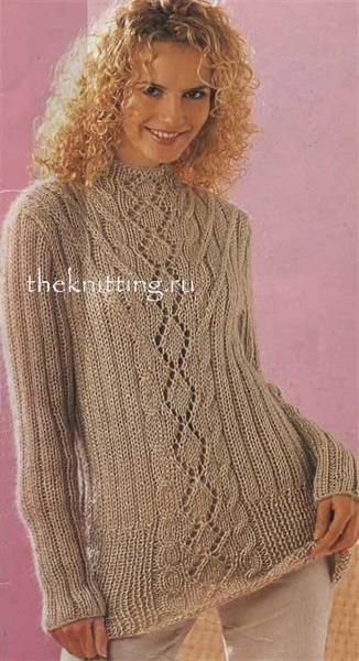 вязание спицами свитер длинный схемы брендовая одежда вязание