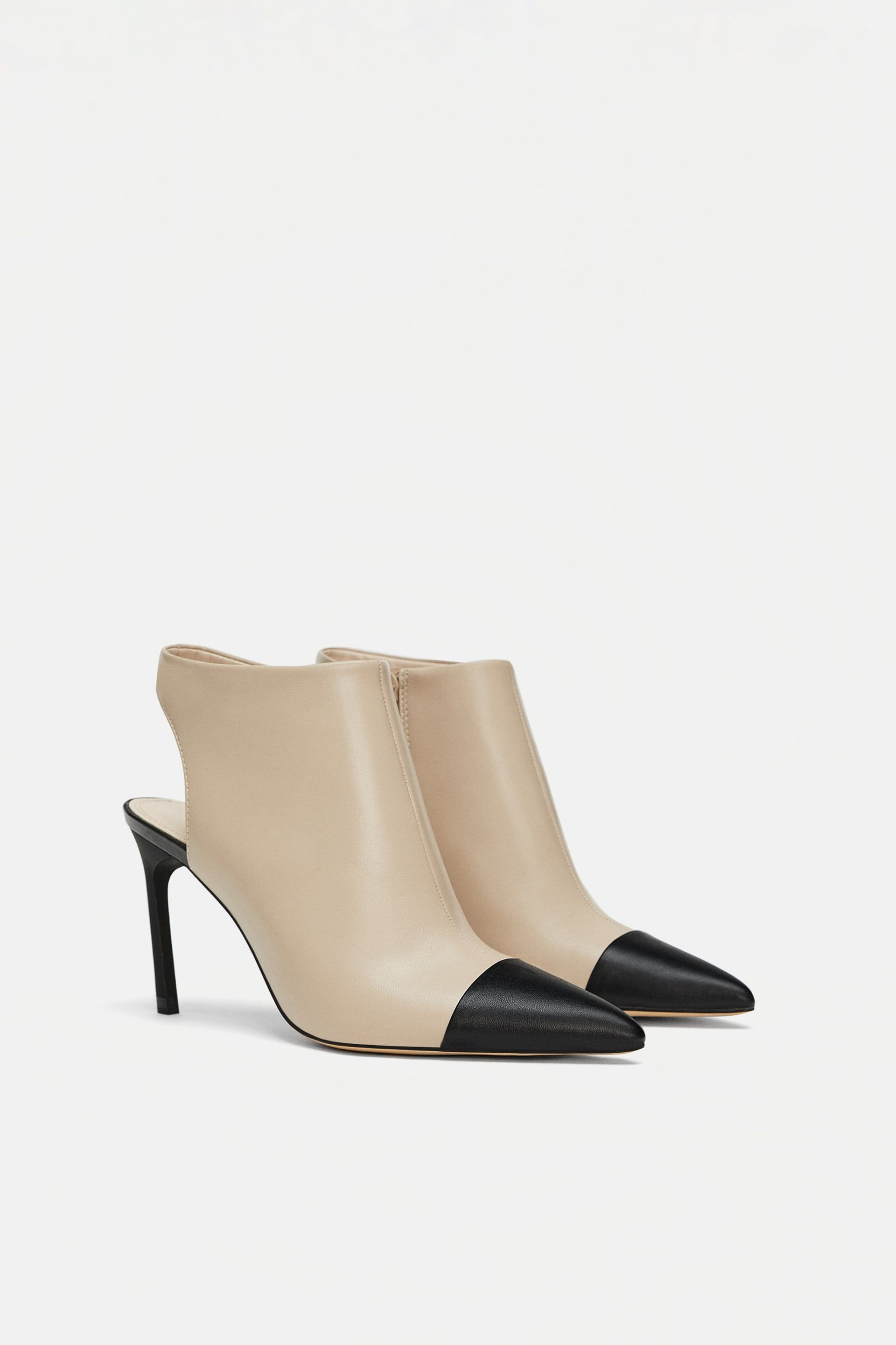 761b326c482 Image 1 of HIGH HEELED SLINGBACK ANKLE BOOTS from Zara