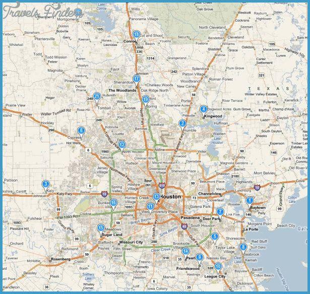 Houston Map httptravelsfinderscomhoustonmaphtml Travels