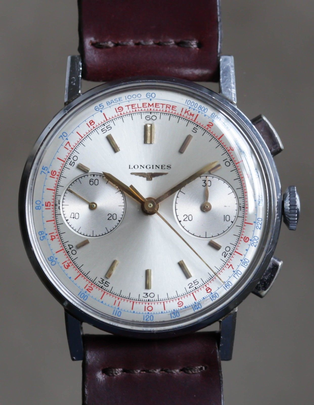 Vintage Longines Chronograph 30CH (post 13zn) Wristwatch Steel and ... 152e6c1fe7c
