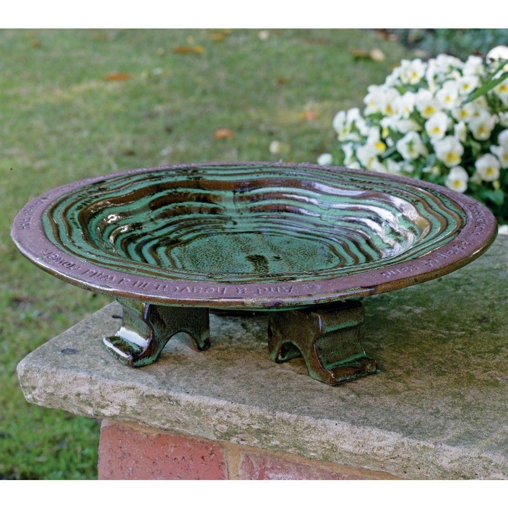 Ground Bird Bath Ceramic
