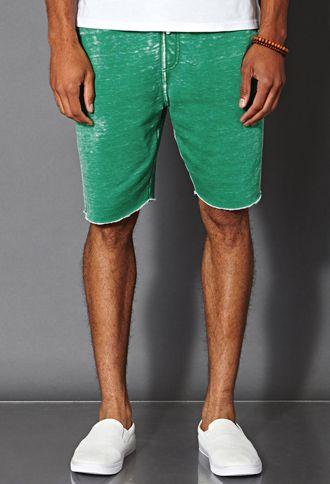 Burnout Fleece Shorts | 21 MEN - 2000061108