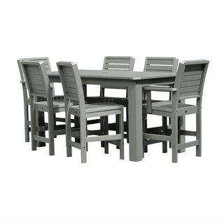 Highwood Patio Furniture.Weatherly 7 Piece 37x72 Rectangular Counter Height Dining Set