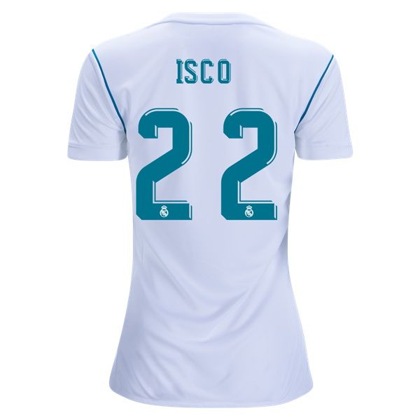 65eae40ed 2017 Isco Jersey Number 22 Home Women s Real Madrid Team