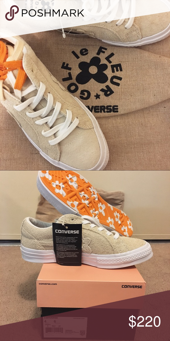 3b1a5ee12 golf le fleur x converse sneakers vanilla suede Limited edition Tyler the  creator golf le fleur x converse collab sneaker in vanilla suede