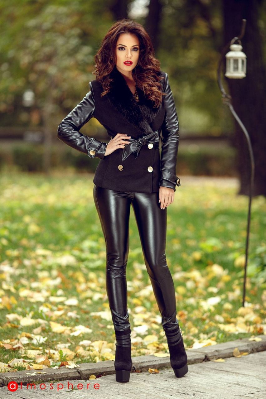 faux leather outfit | Fashion | Pinterest | Latex and Leather