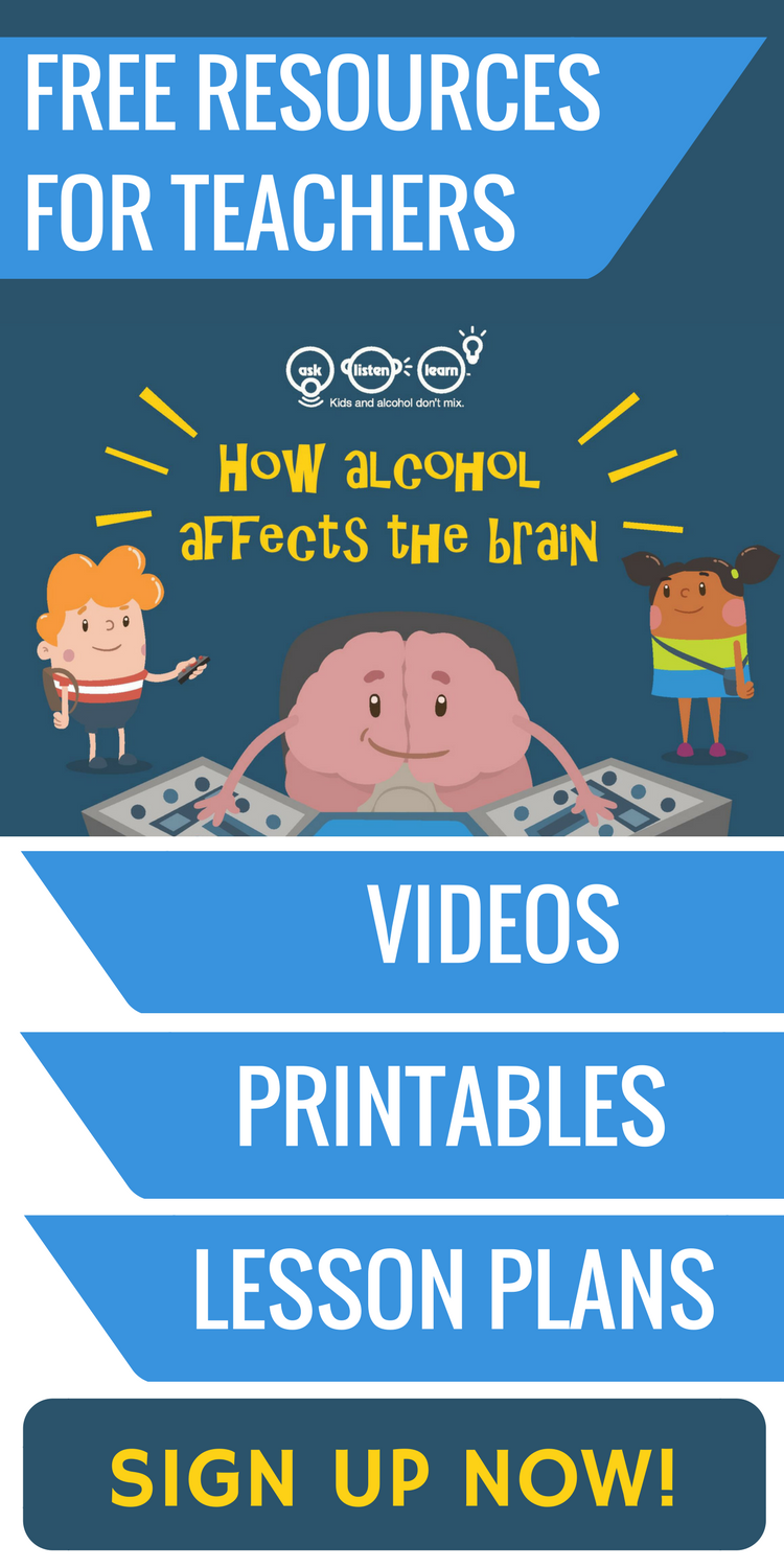 Free lesson plans, worksheets, activities, games and resources to teach kids about alcohol's affect on the developing brain. If you're a teacher, counselor or school admin, these free resources (including free printables) align to standards and are a fun addition to your science and health themes in the classroom. Specifically geared towards 5th and 6th graders, this unit also includes videos and tips for parents to help elementary school and middle school students say no to underage…