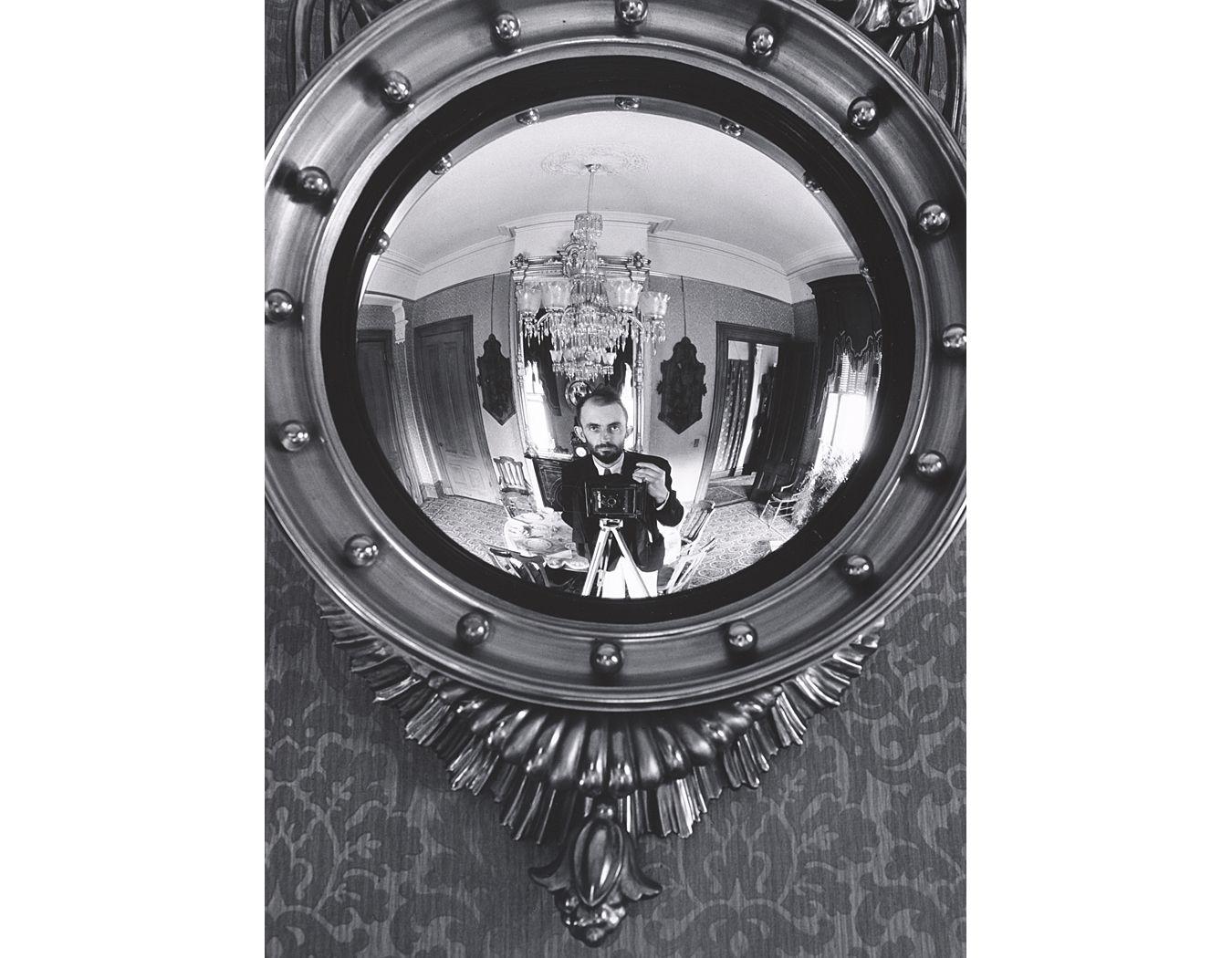 Self Portrait In Victorian Mirror Atherton California