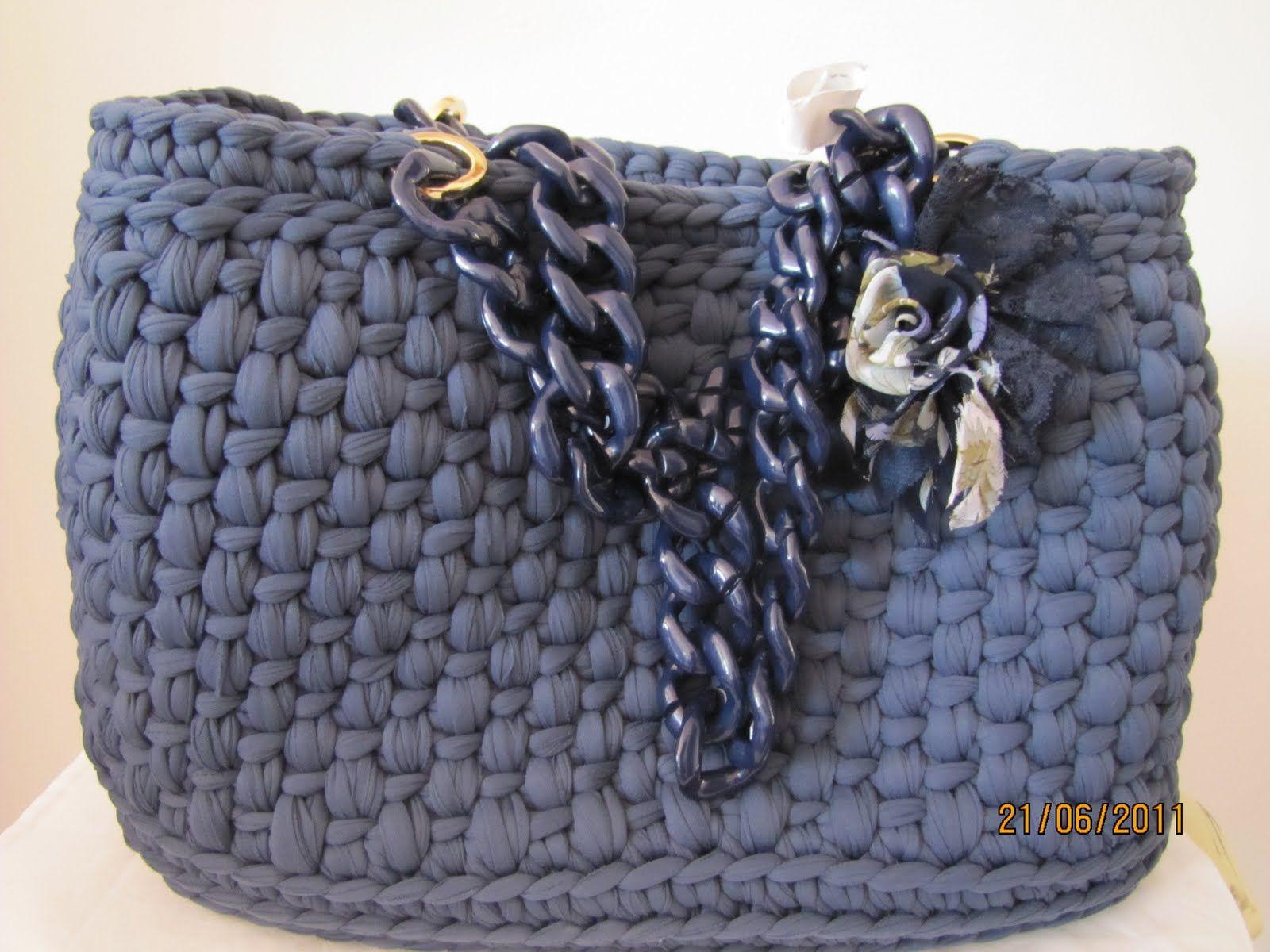 Le borse di mara in fettuccia crochet pinterest for Borse in fettuccia tutorial