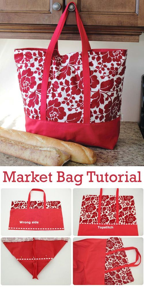 Market Bag Tutorial in 2021 Tote bags sewing, Fabric