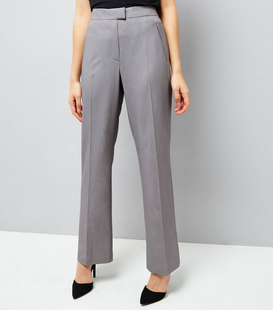 1b9910961 Grey Bootcut Trousers | New Look | Fashion Wishlist | Trousers, Grey ...
