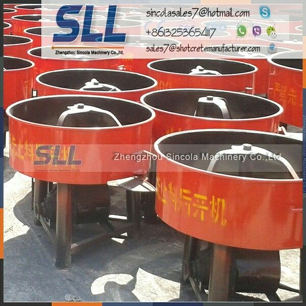 Pan concrete mortar mixer