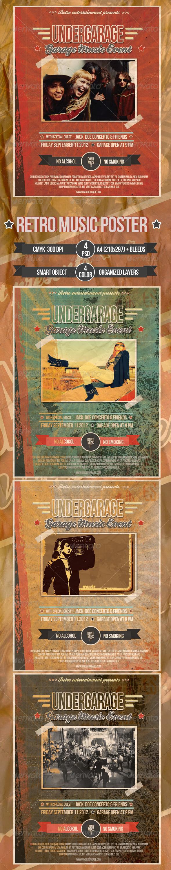 Retro Music Poster $6.00