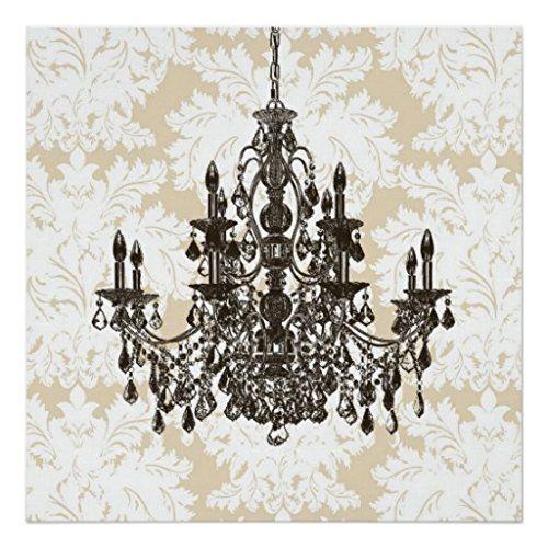 Beige damask chandelier wall art print zazzle http www amazon com