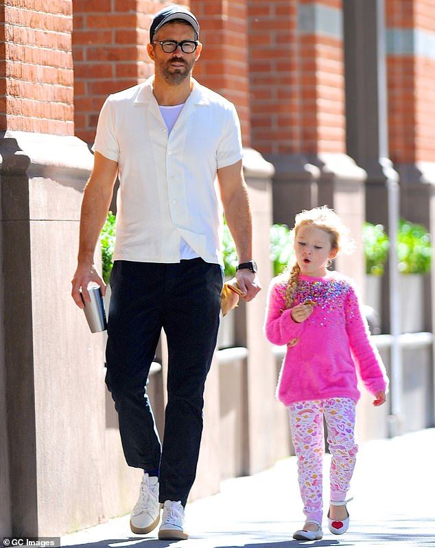 Ryan Reynolds spends time with Inez after a night with