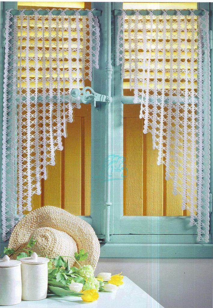 Des rideaux au crochet | crochet | Pinterest | Rideaux crochet ...