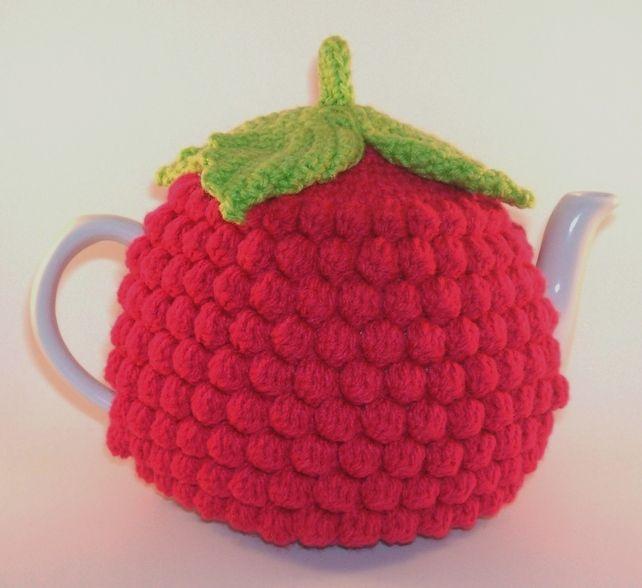 Handmade Crochet Cerise Pink Raspberry Tea Cosy   WONDERFULL IDEAS ...