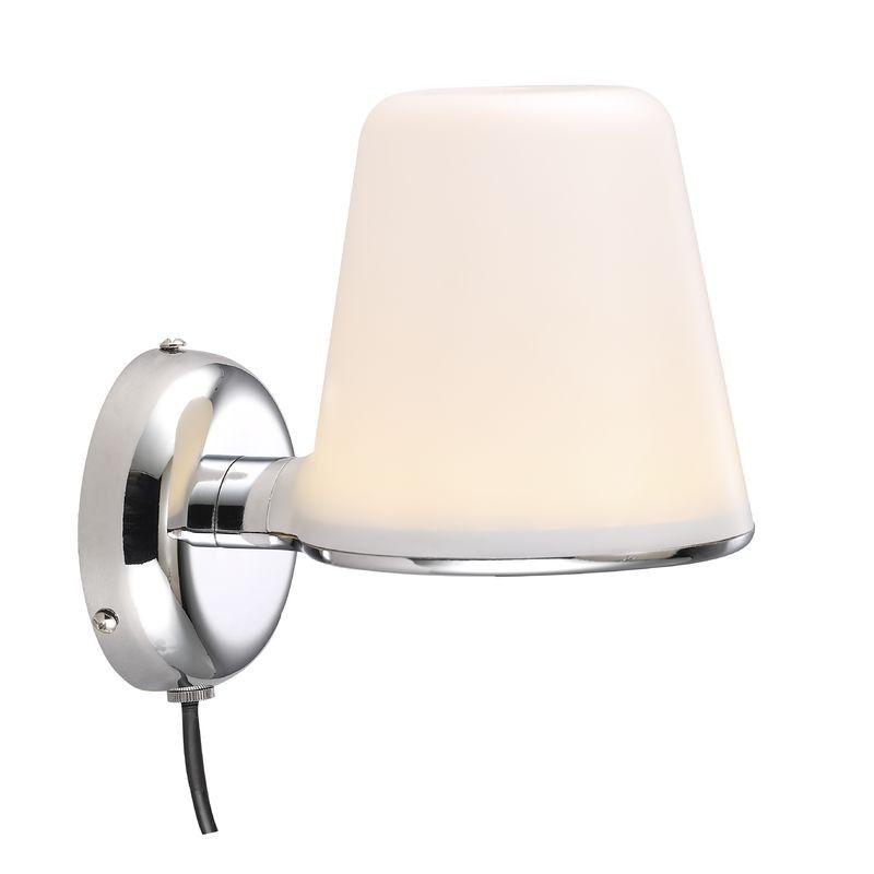 Nordlux IP S8 Bathroom LED Wall Light - Chrome   Nordlux Bathroom ...