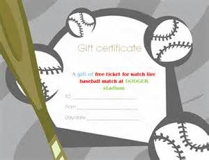 Baseball Gift Certificate Template Free Bing Images Gift