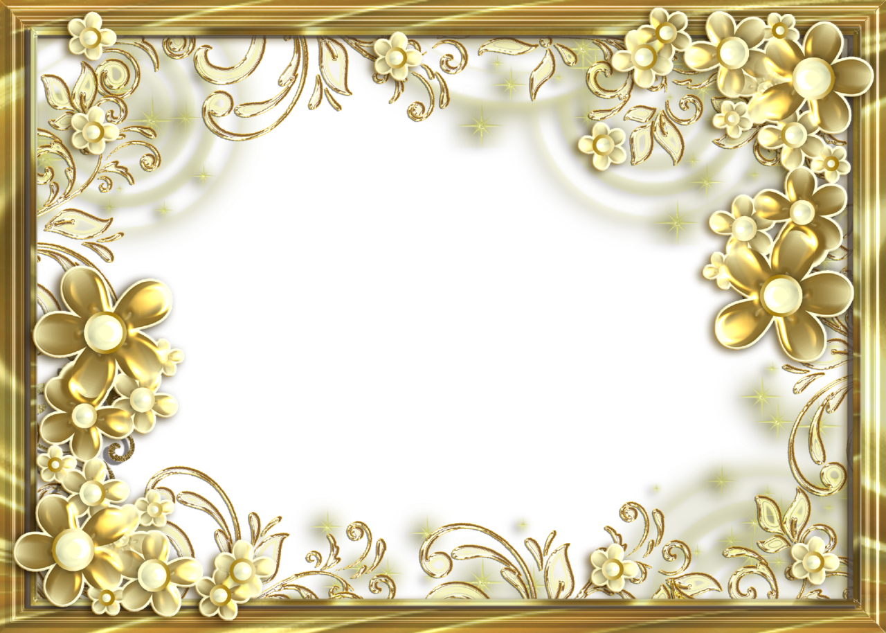 Frame-for-Photo-Golden-with-Flowers | FRAMES and CORNERS 1 | Pinterest
