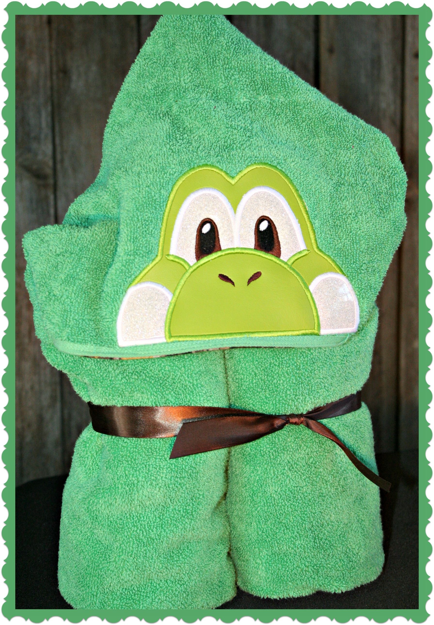 Custom hooded bath towel. $30.00