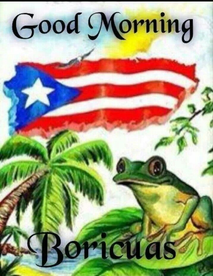 Good Morning In Puerto Rican Spanish : Buenos dias boricuas puerto rico pinterest