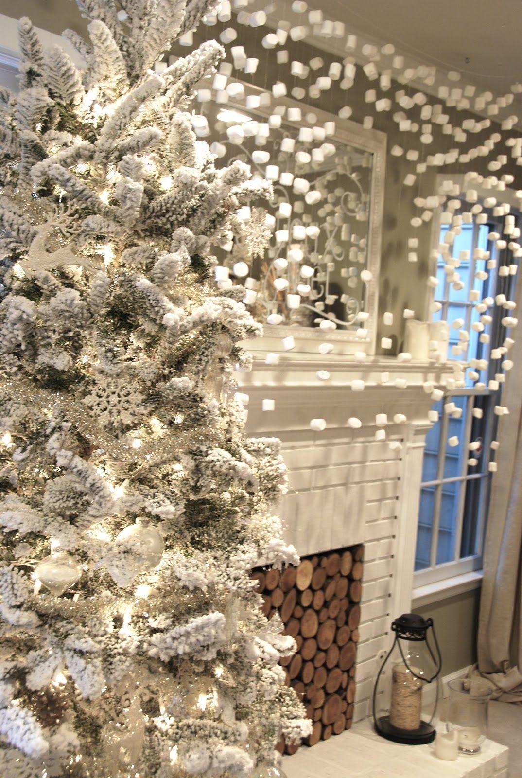 Marshmallow Snow Blue Eyed Yonder Vintage Event Rentals Atlanta Georgia White Christmas Tree Decorations Modern Christmas Beautiful Christmas