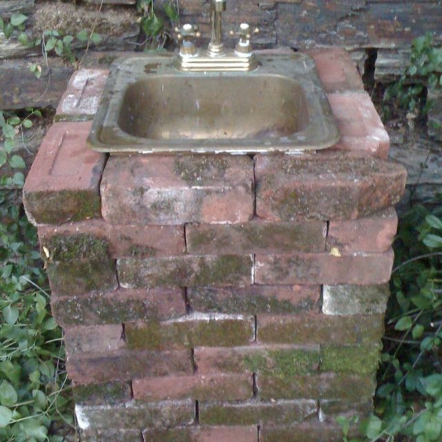 buiten kraan op de goede hoogte. | garden | pinterest | outdoor ... - Patio Sink Ideas