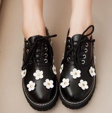 Fashion kawaii flower shoes