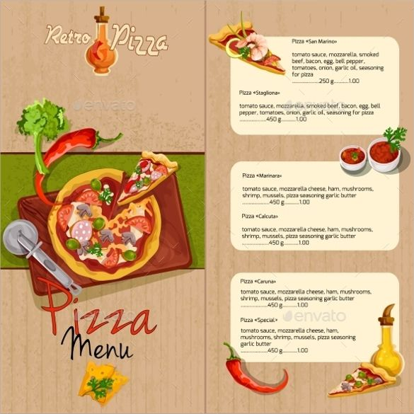 pizza menu templates free sample example format download excel pdf - sample pizza menu template