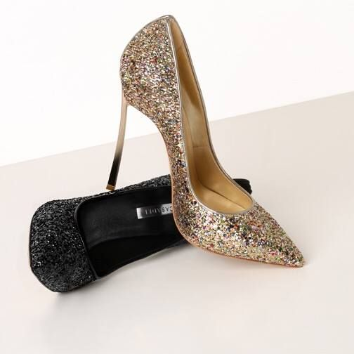 glitter pumps from Casadei