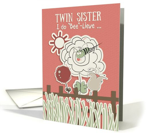 Graphics For Twin Happy Birthday Sister Graphics – Twin Sister Birthday Card